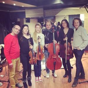 Les Parisiennes en Quatuor au studio Olivia Production avec Thomas Verovski et Joel Veron